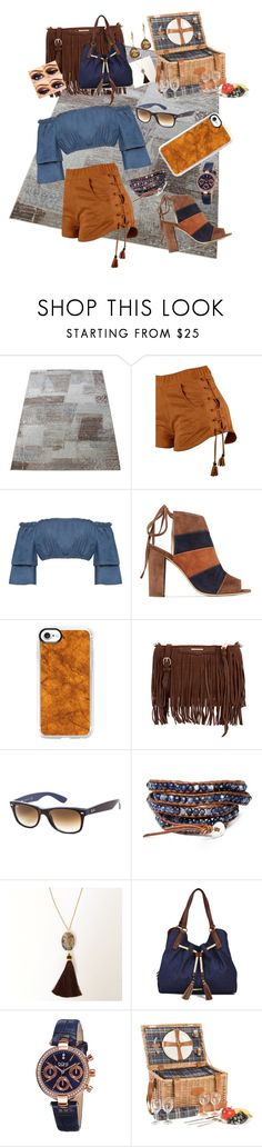 """short shorts"" by kkornak on Polyvore featuring WearAll, 8, Casetify, Rebecca Minkoff, Ray-Ban, Blue Candy Jewelry, Liz Claiborne, bürgi and Charming Life"