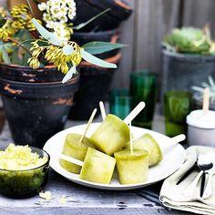 Pineapple, kombucha and mint ices (via kitchenbymikes).