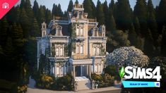 Sims 4 Maxis Match CC finds for you daily. Gothic Mansion, Gothic House, Sims 4 Couple Poses, Vampire House, Sims 4 House Building, The Sims 4 Lots, Sims 4 House Design, Casas The Sims 4, Sims 4 Characters