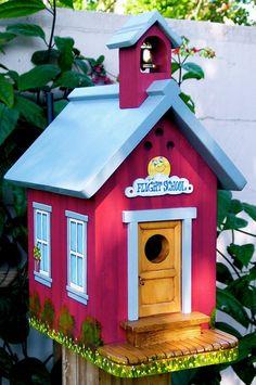 The Flight School Birdhouse by BirdhomesandGardens on Etsy, $175.00