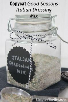 Copycat Good Seasons Italian Dressing Mix Recipe