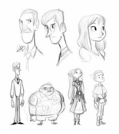 Character Shape Sketching 2 (with video link) by LuigiL on DeviantArt Character Design Cartoon, Character Sketches, Character Design Animation, Character Design References, Character Drawing, Character Design Inspiration, Character Reference, Comic Character, Character Types