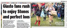 Glasto arrivals by Adam Gray. Daily Express