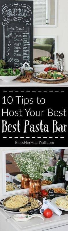 With everyone stuffing their faces with Turkey, pumpkin, and stuffing the whole entire month of November, my upcoming hosting gig will consist of changing things up and throwing together an easy pasta bar.  My pasta bar parties are a breeze to put together once you get the hang of a few things and tend to impress my guests!