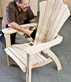 Woodworking Plans & Projects - Adirondack Chair Woodworking Plans