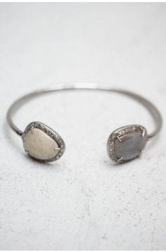 Sapphire, Diamond & Silver Bangle