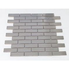 1x3 Stainless Steel Metal Brick pattern Mosiac Tiles