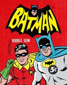 Batman bubble-gum wrapper.