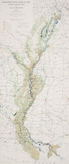 Map of Mississippi flood, 1927