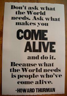come alive.