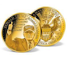TRUMP MAKE AMERICA GREAT AGAIN PATRIOTIC PRESIDENTIAL SERIES CHALLENGE COIN