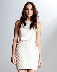 Womens ivory dress from Lipsy - £65 at ClothingByColour.com