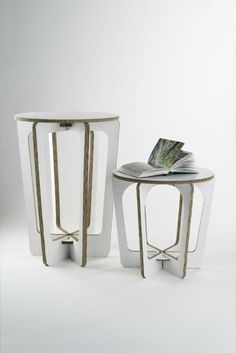 B-trade cardboard stool Cardboard Chair, Cardboard Recycling, Diy Cardboard Furniture, Cardboard Box Crafts, Cardboard Design, Paper Furniture, Cardboard Paper, Plywood Furniture, Furniture Design