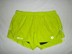 LOVE THESE! Sale of this item will benefit the Orangutan Conservancy - Pearl Izumi Elite Infinity Split Shorts Lime/Black UPF 50+ XS RUN TRAIN GYM NEW #PearlIzumi #Shorts