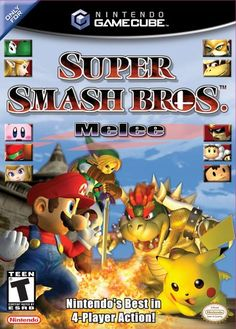 Super Smash Bros Melee (Video Game)By Nintendo Super Smash Bros Melee, Nintendo 64, Original Nintendo, Nintendo Games, Arcade Games, Nintendo Switch, Gi Joe, Viewtiful Joe, Games Box