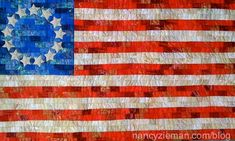Get free quilting pattern and instructions for this Betsy Ross Flag from Nancy Zieman. Nancy Zieman, Quilt Patterns Free, Pattern Blocks, Free Pattern, Block Patterns, Blue Quilts, Small Quilts, White Quilts, Quilting Projects