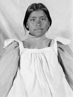 Pima girl, Isabel Apka. Photographed at Sacaton, Arizona 1902. National Anthropological Archives, Smithsonian Institution.