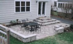 Lovable Stone Backyard Patio Ideas Paver Patio Sitting Wall And Firepit Patios Amp Decks Pinterest