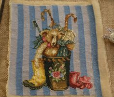 Cute-Teddy-In-Bucket-Whole-Petit-Point-Tapestry-Canvas