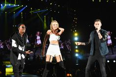 Taylor performing Classic with special guests MKTO during the 1989 World Tour in Foxborough night two on 7.25.15