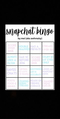 #bingo #snapchat #game Bingo, Flirting, Snapchat, Bff, Template, Games, Reading, Word Reading, Templates