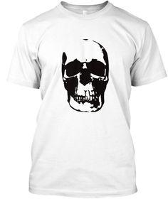 Halloween Shirt   Skull Shirt White T-Shirt Front