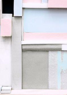 "German multimedia artist Katja Windau extended the life of her recent wall installation Die Zelle des Piet M (""The Cell of Piet M. Colour Schemes, Color Trends, Colour Palettes, Color Combos, Textures Patterns, Color Patterns, Pastel Colors, Colours, Pastel Shades"