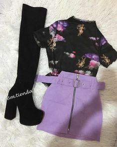 Clueless Outfits, Edgy Outfits, Retro Outfits, Cute Casual Outfits, Really Cute Outfits, Purple Outfits, Rock Outfits, Girls Fashion Clothes, Teen Fashion Outfits