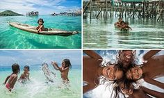 Portraits capture life of Borneo's Bajau children who live their lives on the ocean   Daily Mail Online