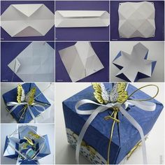 DIY Pretty Origami Gift Box | iCreativeIdeas.com Follow Us on Facebook --> https://www.facebook.com/icreativeideas
