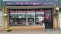The sign is up just in time for our #Grandopening! Yay! #KinkyMissLingerie #Excited #ToriBlack #Toronto