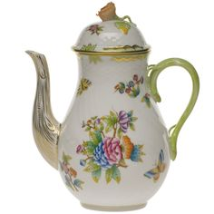 Herend Queen Victoria Coffee Pot...okay, it's not for tea, but coffee would taste good if it came out of this pot
