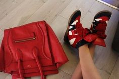 Isabel Marant sneakers and celine