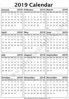 day calendar 2019 sri lanka