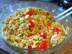 Great recipe for roasted corn and orzo salad.