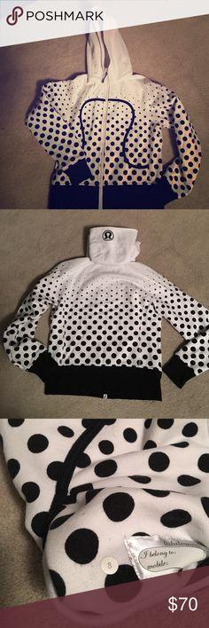 **Lululemon Limited Edition **Scuba Hoodie Black/white polka dot Scuba Hoodie lululemon athletica Sweaters