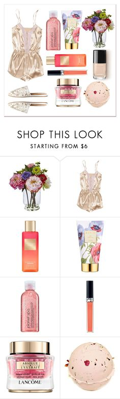 """Me time"" by cicamaca86 ❤ liked on Polyvore featuring beauty, Nearly Natural, Victoria's Secret, AERIN, Avon, Christian Dior and Spring"