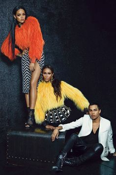 Rihanna, Iman and Olivier Rousteing for W Magazine