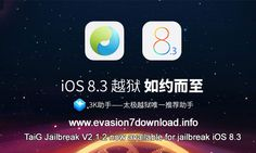 taig 2.1.2 untethered jailbreak tool released today. For more info  http://evasion7download.info/jailbreak_iOS8.3