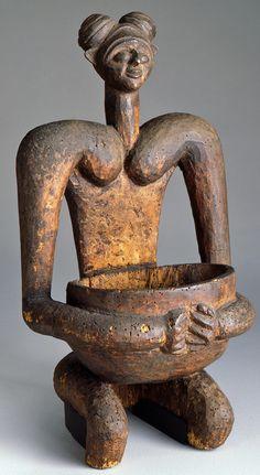 unknown Tikar Kingdom artist (Tikar Kingdom), Kola Nut Container , ca. 1900, wood, the Portland Art Museum