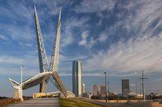 The Skydance Bridge - Information on the I-40 Pedestrian Bridge in Downtown Oklahoma City Called the Skydance Bridge