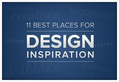 11 Best places for design inspiration. Web design, E-commerce, logos. #Volusion