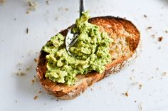 Avocado Toast. add red onion, tomatoes, maybe smashed black beans - serve with bloody mary bar. yumm.