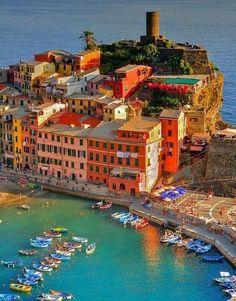 Village on The Sea ~ Vernazza, Italy