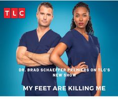 Take a look inside the new hit TLC show, My Feet Are Killing Me, featuring Dr. Brad Schaeffer and Dr. Normal Life, Meet The Team, Me Tv, New Shows, When Someone, Good News, Take That, Offices, Rid