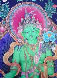 Green Tara, Tibetan Goddess of compassion.