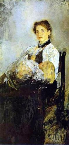 Madezhda Derviz With Her Child  by Valentin Serov