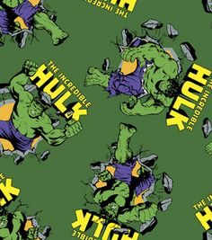 Licensed Fleece Fabric- Incredible Hulk: licensed fabric: fabric: Shop | Joann.com
