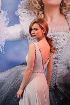 Lily James at the Cinderella Premiere in Mexico City on March Actress Lily James, Have Courage And Be Kind, Famous Faces, Downton Abbey, Actors & Actresses, Beautiful People, Celebrity Style, Hollywood, Celebs