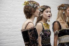 Rodarte Fall 2016 New York Fashion Week Backstage Photos | W Magazine